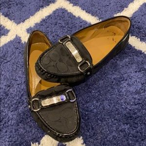 💕Black Coach Felicia Loafers💕